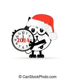 αστείος , ρολόι , εικόνα , μικροβιοφορέας , ζώο , έτος , καινούργιος