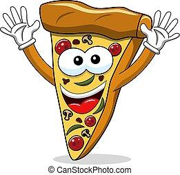 αστείος , φέτα , απομονωμένος , ανεμίζω , γελοιογραφία , πίτα με τομάτες και τυρί