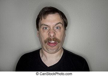 αστείος , face., άντραs , μουστάκι , κατασκευή