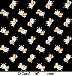 αστείος , sheeps, μαύρο φόντο , πρότυπο