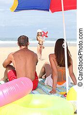 αστείο , παραλία , έχει , οικογένεια