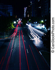 αστικός δρόμος γεγονός , νύκτα