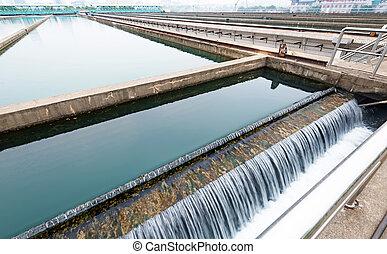 αστικός , εργοστάσιο , μοντέρνος , wastewater, μεταχείρηση