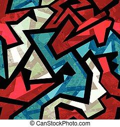 αστικός , grunge , πρότυπο , αποτέλεσμα , seamless, κόκκινο