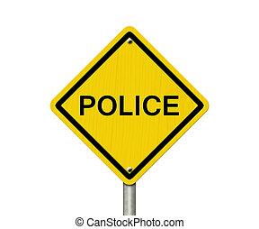 αστυνομία , προσοχή , δρόμος αναχωρώ