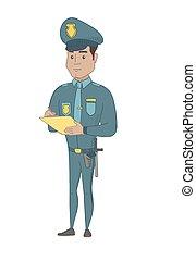 αστυνομικόs , λογαριασμόs , νέος , γράψιμο , ισπανικός , κυκλοφορία , εξαιρετικά