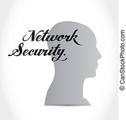 ασφάλεια , γενική ιδέα , μυαλό , δίκτυο , σήμα