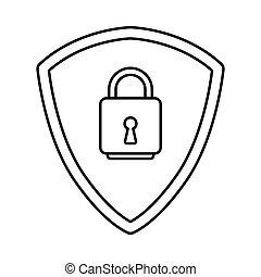 ασφάλεια , δεδομένα , εικόνα