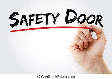 ασφάλεια , μαρκαδόρος , πόρτα , εδάφιο