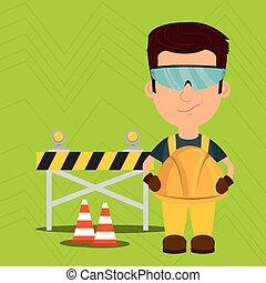ασφάλεια , παραγγελία , εργάτης , εργαλείο