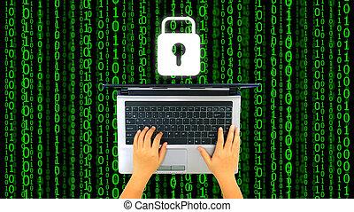 ασφάλεια , ψηφιακός , ασφάλεια , σύστημα , γενική ιδέα , world.