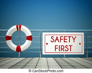 ασφάλεια 1 , σήμα , σε , ο , πισίνα , σωσίβιο