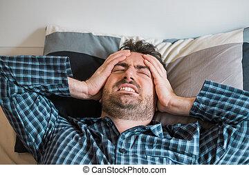 αταξία , κοιμάμαι , κειμένος , κρεβάτι , άντραs