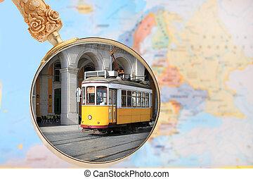 ατενίζω αναμμένος , επάνω , λισσαβώνα , πορτογαλία