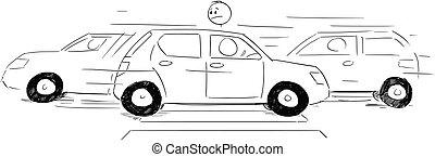 ατενίζω , δικός του , άμαξα αυτοκίνητο , αγνοώ , προτεραιότητα , πεζός , αναμονή , συγκινητικός , δρόμοs , διάβαση , διάβαση πεζών , ή , γελοιογραφία , άντραs