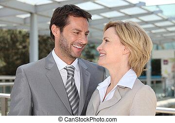 ατενίζω , ζευγάρι , άλλος , επιχείρηση , έκαστος