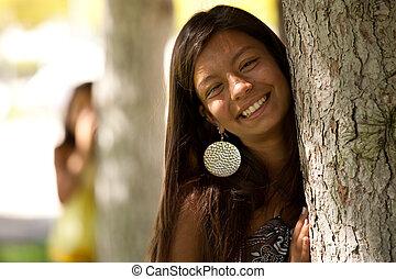 ατενίζω , bewind, ένα , δέντρο