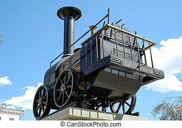 ατμομηχανή σιδηροδρόμου , πρώτα , ρωσία , μνημείο