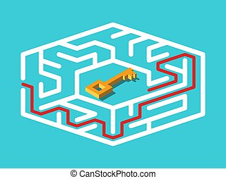 ατραπός , isometric , λαβύρινθος , κλειδί