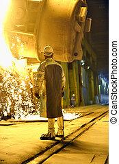 ατσάλι δουλευτής , εργοστάσιο