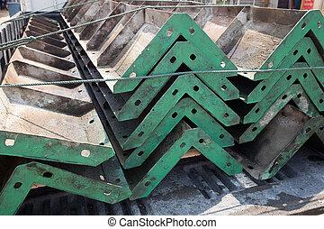 ατσάλι , στήλες , κορνίζα , δομή , μέσα , θέση