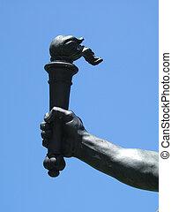 ατσάλι , χέρι , από , libert