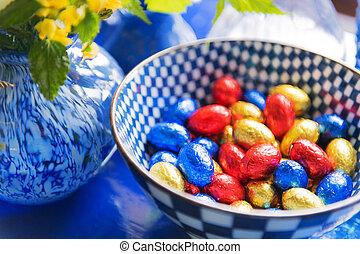 αυγά , πόσχα , σοκολάτα