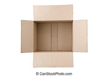αυλακωτός , κουτί , χαρτόνι , ανοίγω