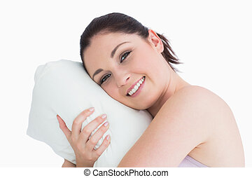 αυτήν , αγρυπνία ανακριτού , μαξιλάρι , γυναίκα
