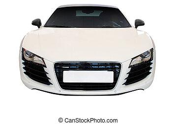 αυτοκίνητο , άσπρο , απομονωμένος , γρήγορα