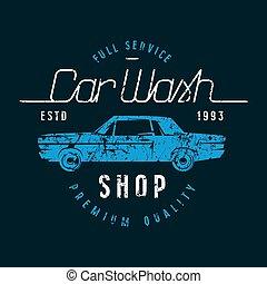 αυτοκίνητο , έμβλημα , πλένω