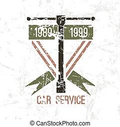 αυτοκίνητο , έμβλημα , υπηρεσία
