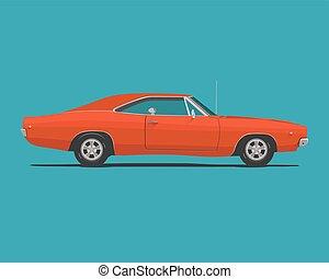 αυτοκίνητο , αμερικανός , μυs , κλασικός