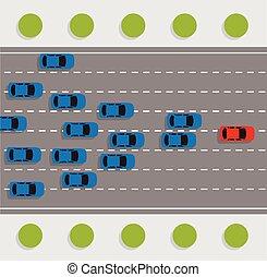 αυτοκίνητο , ανασυντάσσω , δρόμοs , μικροβιοφορέας , αρχηγία , γενική ιδέα
