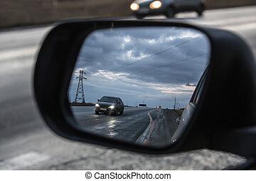 αυτοκίνητο , βλέπω , ακτή αντανακλώ