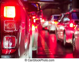 αυτοκίνητο , γεμάτος , νύκτα