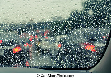 αυτοκίνητο , διαμέσου , βρεγμένος , μετοχή του see , παρμπρίζ , αμαυρός