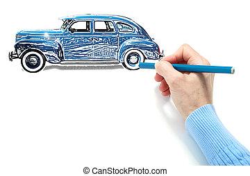 αυτοκίνητο , ζωγραφική