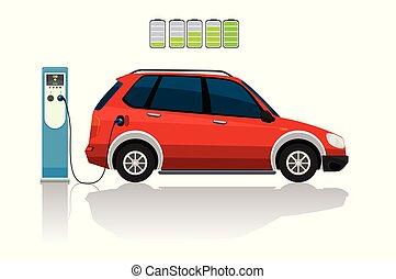 αυτοκίνητο , ηλεκτρικός , κόκκινο