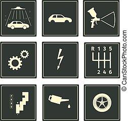 αυτοκίνητο , θέτω , υπηρεσία , απεικόνιση