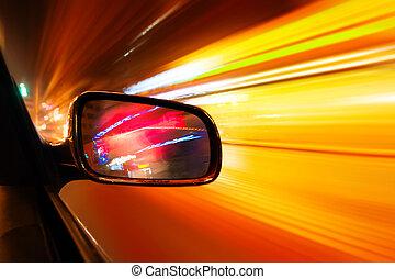αυτοκίνητο , ιπτάμενος , νύκτα , αστικός