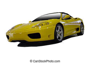αυτοκίνητο , κίτρινο , αθλητισμός