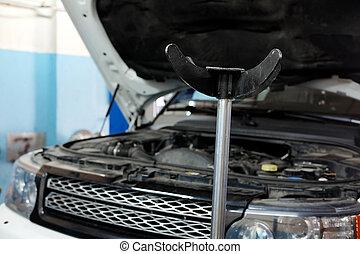 αυτοκίνητο , με , ακάλυπτη θέση αεριοσυλλέκτης