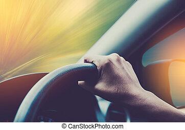 αυτοκίνητο , οδήγηση , χέρι