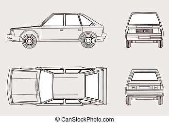 αυτοκίνητο , περίγραμμα , αναμμένος αγαθός , φόντο , μικροβιοφορέας , εικόνα