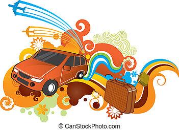 αυτοκίνητο , ταξιδεύω