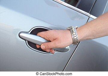 αυτοκίνητο , χέρι , ανήρ , άνοιγμα