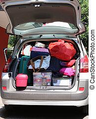 αυτοκίνητο , bef, άλεσα , αποσκευές , πολοί , βαγόνι αποσκευών , αποσκευέs