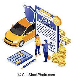 αυτοκίνητο , isometric , γενική ιδέα , ασφάλεια