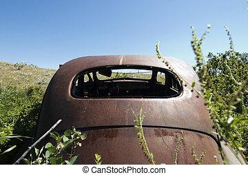 αυτοκίνητο , rusted , λειμών